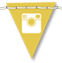 Leelou Blogs free social icons Instagram yellow